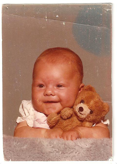 This is me at about nine months. I was so stinkin cute, aren't I?