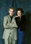 This is me with my good friend Luke at our college winter formal. My hair and outfit....disaster.